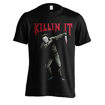 Halloween Michael Myers Knife Pose Official T-Shirt
