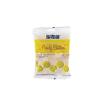 PME Natural Candy Buttons - Geel - 200g