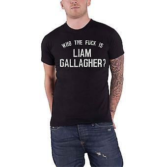 Liam Gallagher T Shirt Who the F**k As You Were Text Logo new Official Mens