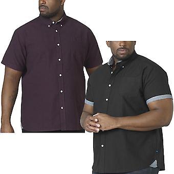 Duke D555 Mens Kevin Big Tall Casual Short Sleeve Button Down Cotton Shirt