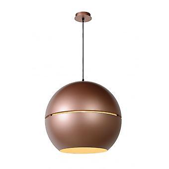 Lucide SEVENTIES Pendant Globe Sphere D50 E27 Rose Gold