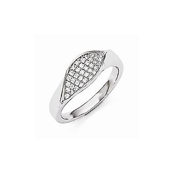 925 Sterling Silver Pave Rhodium plated and CZ Cubic Zirconia Simulated Diamond Brilliant Embers Ring Size 6 Jewelry Gif