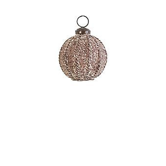 Light & Living Christmas Bauble 7cm Pajo Antique Brown