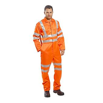 Portwest hi-vis poly-cotton coverall ris rt42