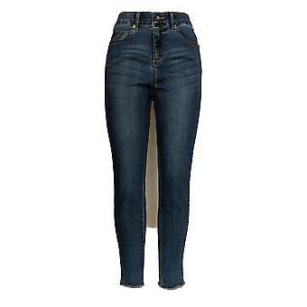 Kelly by Clinton Kelly Women's Jeans Ankle w/ Faux Suede Blue A343669 PTC
