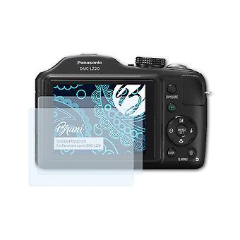 Bruni 2x näytönsuoja yhteensopiva Panasonic Lumix DMC-LZ20 suojaava kalvo