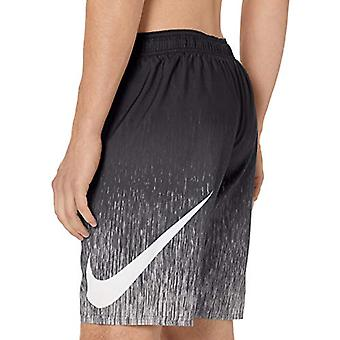 "Nike Swim Men's Rush Ombre Breaker 9"" Volley Short Swim Trunk, Black, Medium"