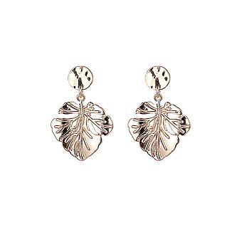 Gold Leaf Design Earrings
