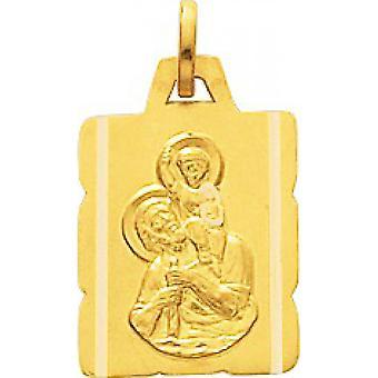 Medaille StChristophe Gold 375/1000 pingente amarelo (9K)