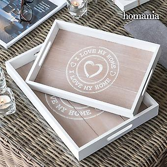 Trays I Love My Home by Homania (pack of 2)