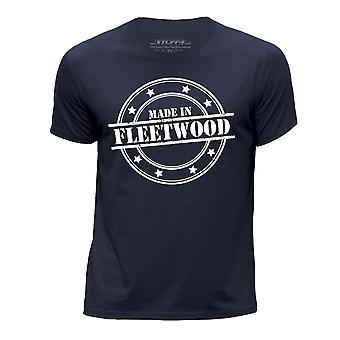 STUFF4 Boy's Round Neck T-Shirt/Made In Fleetwood/Navy Blue