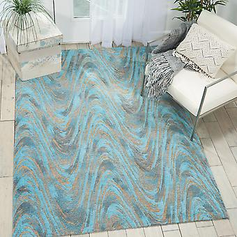 Organic Modern Rugs Om001 By Nourison In Midnight Teal