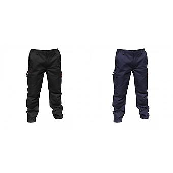 Result Mens Stretch Work Trousers / Pants (34inch Long Length)