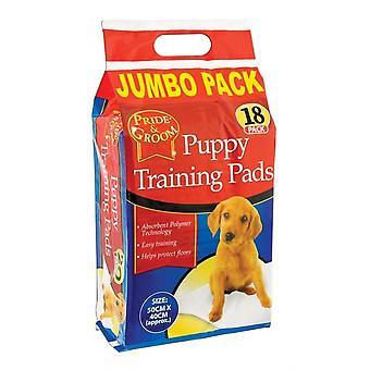 Pride & Groom Puppy Training Pads (Pack of 18)