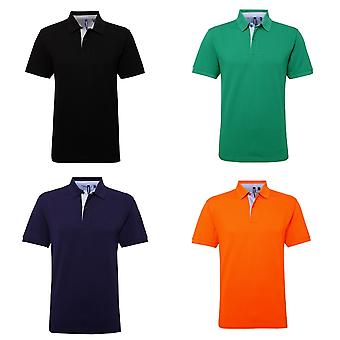 Asquith & Fox Herren Baumwoll Short Sleeve Polo-Shirt