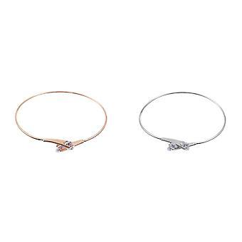 Intrigue Womens/dames plat fin bracelet