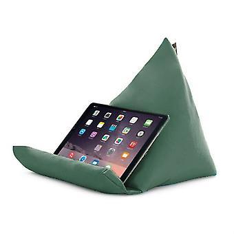 Gardenista | Waterbestendig in de buitenlucht | Piramidevormige tabletstandaard | Laptopkussen | Polystyreen Boon gevuld (Groen)