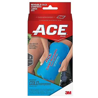 3m ace brand reusable cold compress, soft touch fabric, large, 1 ea