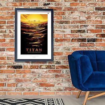 Titan NASA espaço turismo Poster impressão giclée