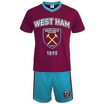 وست هام يونايتد لكرة القدم الرسمية هدية رجال شورت بيجامات صالة الملابس