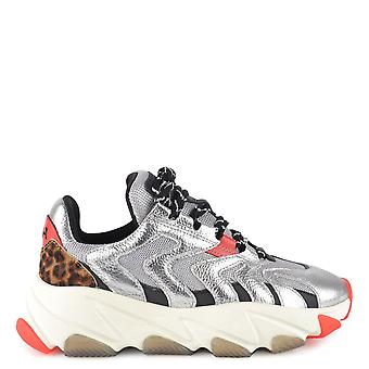 Ash Footwear Extreme Silver And Leopard Trainer