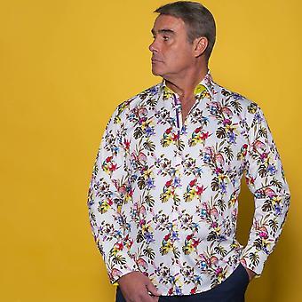 CLAUDIO LUGLI Vögel des Paradieses & Blumen Shirt