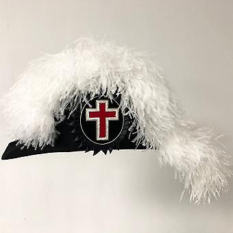 Knights templar linje officer sir ridder chapeau - standard