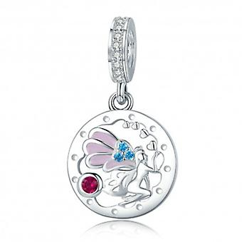 Sterling Silver Pendant Charm Beautiful Fairy - 5707