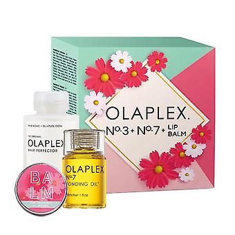Geschenkset Olaplex Nr.3 + Nr.7 + Lippenbalsam