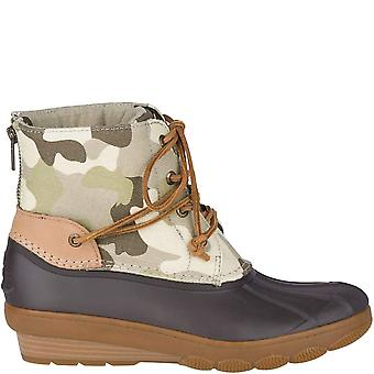 Sperry Womens Saltwater Fabric Cap Toe Ankle Rainboots