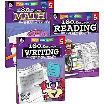 180 Days of Reading - Writing and Math for Fifth Grade 3-Book Set by