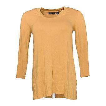 H by Halston Women's Top XXS Essentials 3/4 Sleeve T-shirt Beige A293993