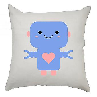 Robot Cushion Cover 40cm x 40cm - Dark Blue Robot