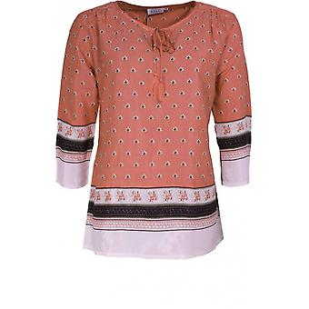 Masai Clothing Daria Blush Leaf Design Top