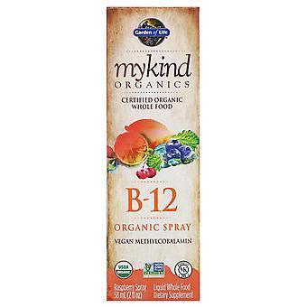MyKind Organics-B-12 organisk spray-hindbær (58 ml)-have af livet