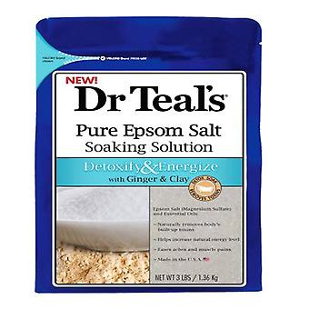 Dr teal's pure epsom salt, detoxify & energize, 3 lbs