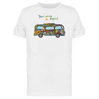 Hippie buss fred og kjærlighet stil Tee menn-bilde av Shutterstock