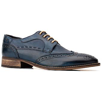 Basis London Mens Kitchin Softy Lace Up Brogue Navy