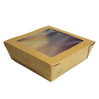 Vegware Compostable Kraft Medium Window Boxes
