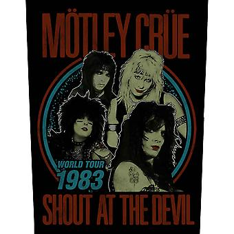 Motley Crue Back Patch Shout At The Devil Band Logo Official Sew On 36cm x 29cm