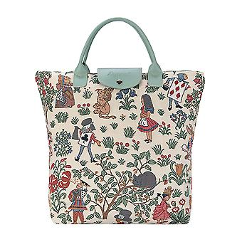 Alice in wonderland foldaway shopping bag by signare tapestry / fdaw-alice