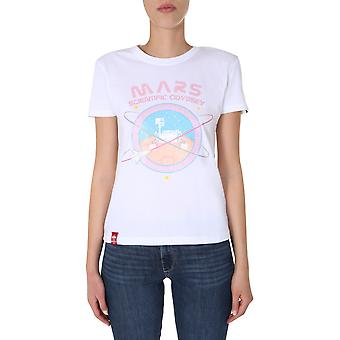 Alpha Industries 12606909 Donna's T-shirt in cotone bianco