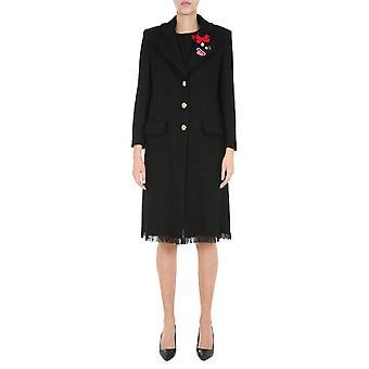 Boutique Moschino 061661160555 Women's Black Wool Coat