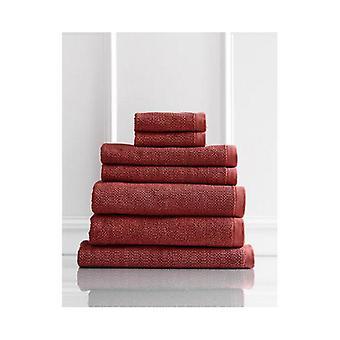 Resort 7 Piece Towel Pack 600GSM Egyptian Cotton Marsala