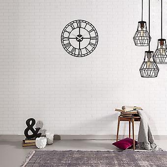 Reloj de pared 19 Color acero negro 50x0.2x50 cm