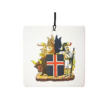 Iceland Coat Of Arms Car Air Freshener