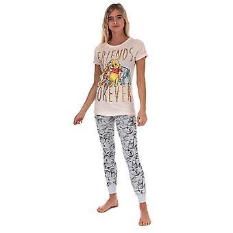 Frauen's Disney Winnie The Pooh Pyjamas in Grau