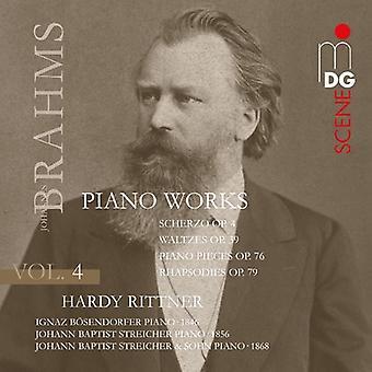 Hardy Rittner - Brahms: Piano Works, Vol. 4 [SACD] USA import