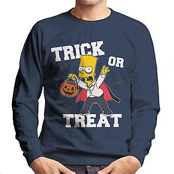 The Simpsons trick eller Forkæl Bart Halloween mænd ' s sweatshirt
