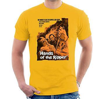 Hammer Horror films handen van de Ripper Movie Poster mannen ' s T-shirt